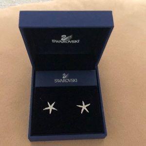 Swarovski starfish stud earrings